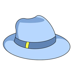 How to Draw a Gentleman Hat Easy