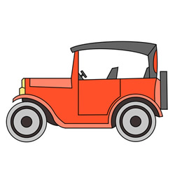 How to Draw a Classic Car Step by Step for Kids
