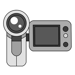 How to Draw a Digital Video Camera Easy Step by Step for Kids