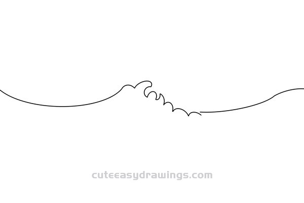 How to Draw a Rough Ocean Easy Step by Step for Kids