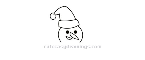 How to Draw a Christmas Snowman