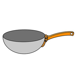 How to Draw a Wok Easy Step by Step for Kids