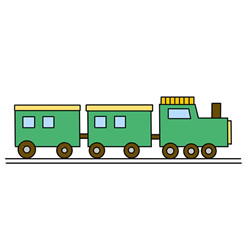 How to Draw an Old-Fashioned Train Easy for Kids