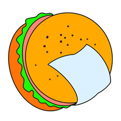 How to Draw a Hamburger Easy