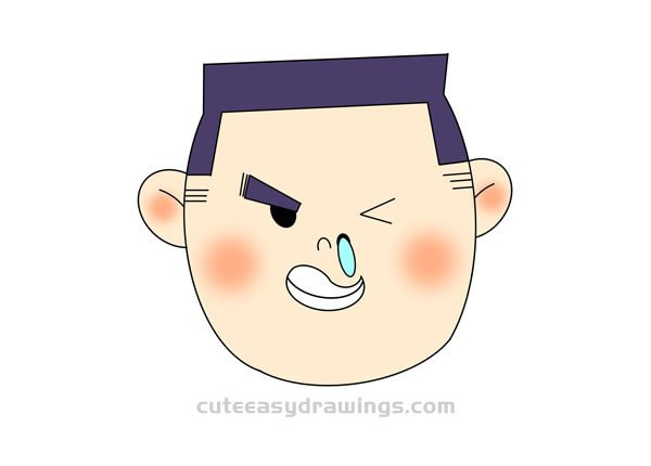 How to Draw a Boy with a Runny Nose