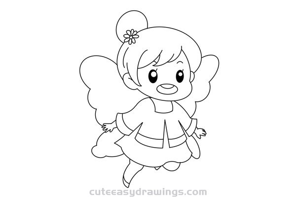 How to Draw an Elf Girl Easy Step by Step for Kids