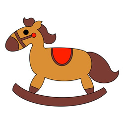 How to Draw a Wooden Rocking Horse Easy for Kids