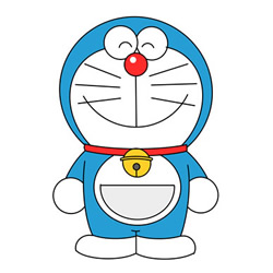 How to Draw Happy Doraemon