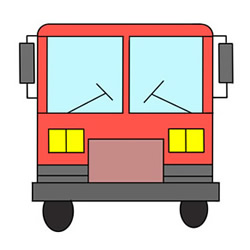 How to Draw the Front of a Bus Easy for Kids