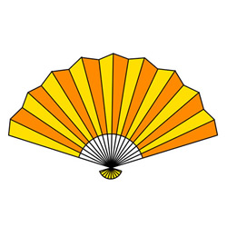 Folding Fan Drawing Step by Step for Kids