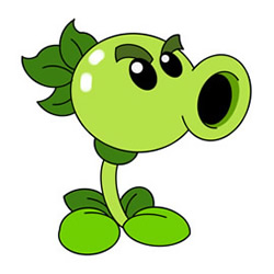 How to Draw an Angry Peashooter Step by Step for Kids