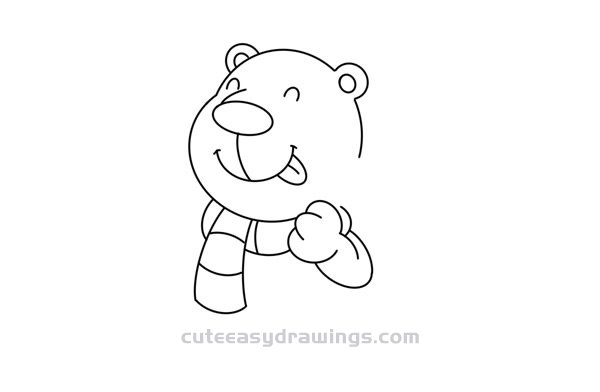 How to Draw a Polar Bear Who Likes Fishing Easy for Kids