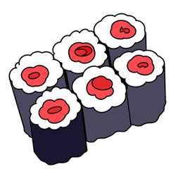 How to Draw Japanese Sushi for Kids