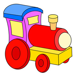 How to Draw a Locomotive Toy Easy for Kids