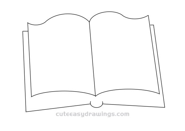 How to Draw an Open Book Easy Step by Step for Kids