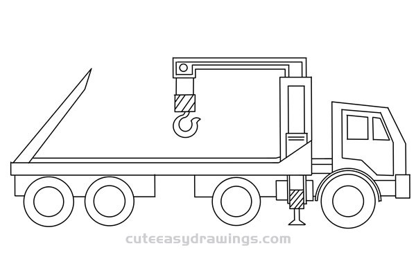 How to Draw a Wrecker Easy Step by Step for Kids
