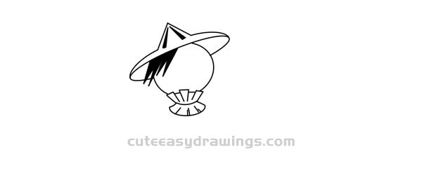 How to Draw a Scarecrow with a Bird Easy for Kids