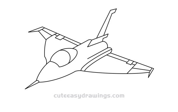 How to Draw a Rafale Fighter Easy Step by Step for Kids