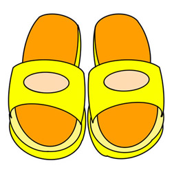 How to Draw Plastic Slippers Easy Step by Step for Kids
