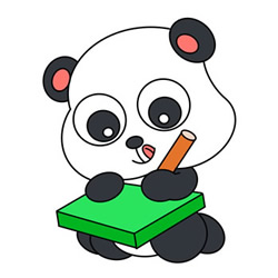 How to Draw a Baby Panda that is Drawing for Kids