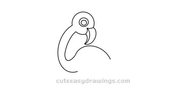 Easy Flamingo Drawing Step by Step for Kids