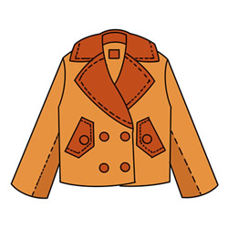 How to Draw a Winter Jacket Easy Step by Step for Kids