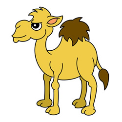 How to Draw an Unhappy Dromedary Easy Step by Step