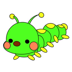 Cute Caterpillar Drawing Step by Step for Kids