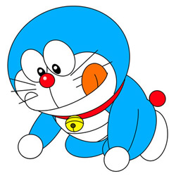 How to Draw Excited Doraemon Easy Step by Step for Kids