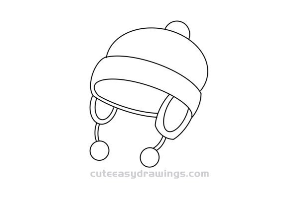 How to Draw a Winter Hat for Girl Easy Step by Step