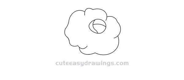 Drawing of Rose Red Step by Step for Kids