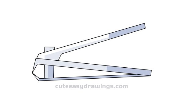 How to Draw a Nail Clipper Easy Step by Step for Kids