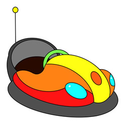 Bumper Car Drawing Easy Step by Step for Kids