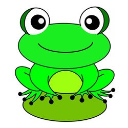 Frog Drawing Step by Step for Kids