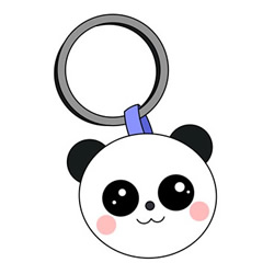 How to Draw a Cute Panda Keychain Easy for Kids