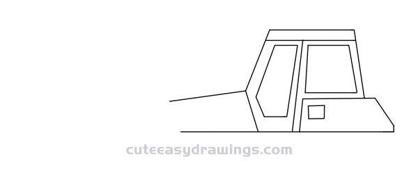 How to Draw a Crawler Bulldozer Step by Step for Kids