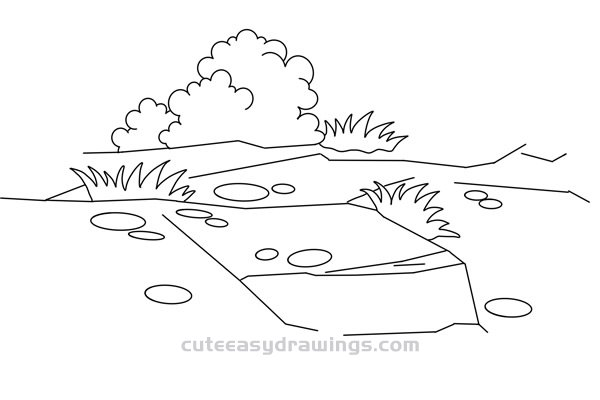 Land Drawing Easy Step by Step for Kids