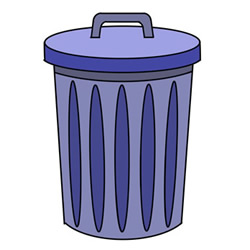 How to Draw a Trash Can with a Lid Easy for Kids