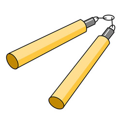 How to Draw a Nunchaku Easy Step by Step for Kids