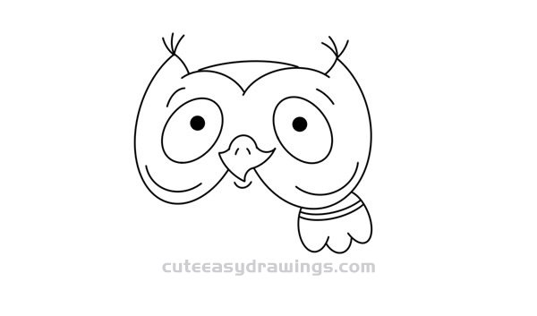 How to Draw an Owl with Open Eyes Easy for Kids