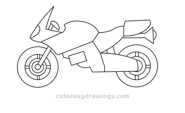 How to Draw a Cool Motorcycle Easy Step by Step for Kids