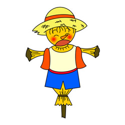 Cartoon Scarecrow Drawing Easy Step by Step for Kids