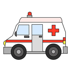 Ambulance Drawing Step by Step for Kids