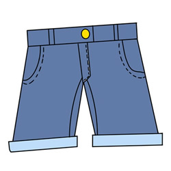 How to Draw Denim Shorts Easy Step by Step for Kids
