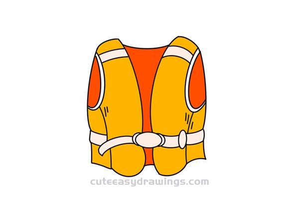 How to Draw a Life Jacket for Kids