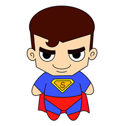 Cute Cartoon Superman Drawing Tutorial for Kids