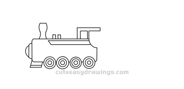 How to Draw a Freight Train Easy for Kids