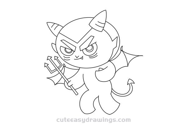 How to Draw a Bad Demon Easy Step by Step for Kids