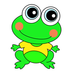 How to Draw a Frog in a T-shirt Easy for Kids