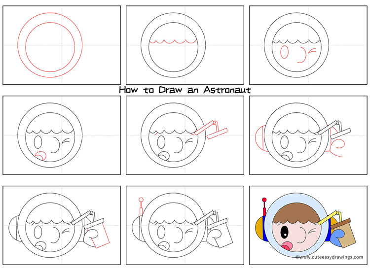 How to Draw an Awkward Astronaut for Kids